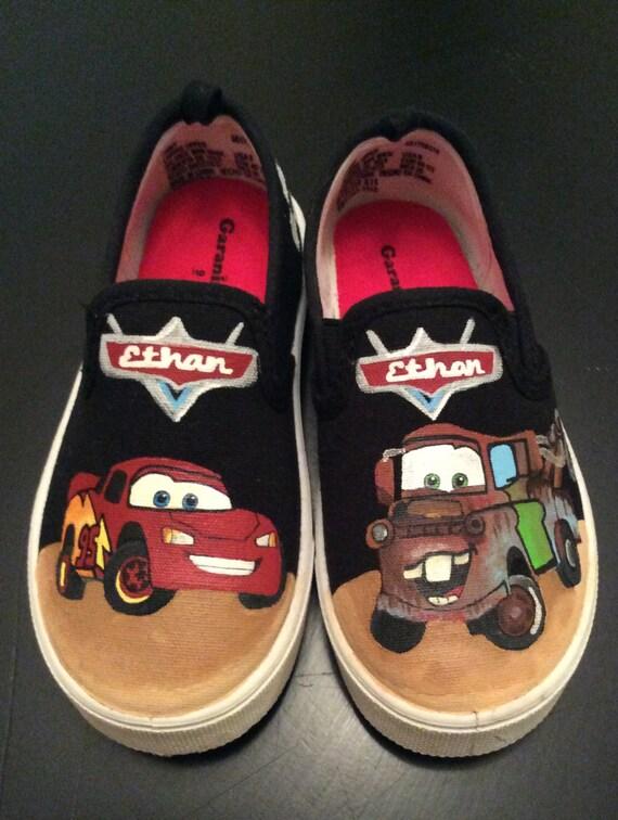 Custom Boy's Canvas Slip On Shoes, Hand Painted, Birthday Gifts, Custom Designed