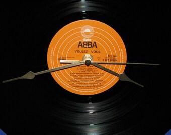 """Abba voulez vous 12""""/lp  vinyl record clock"""