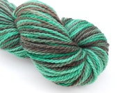 SALE Forest Wanderer Hand Dyed Worsted Weight Yarn Merino Wool in Shades of Green and Brown