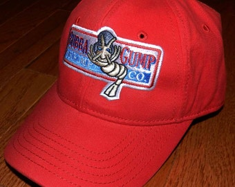 Bubba Gump Shrimp Co Hat Run Forrest Gump Tom Hanks Halloween party costume red cap