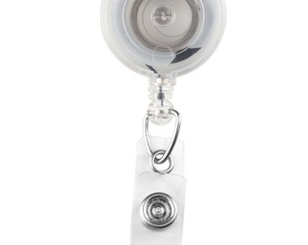 10 Clear Badge Reels w/ Clear Strap & Swivel Spring Clip | 2120-7621