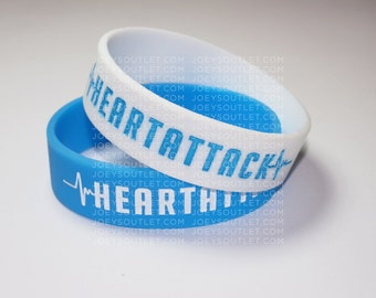 1 SINGLE Heart Attack Demi Lovato Bracelet Wristband WIDE