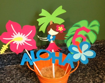 Five Piece Luau Centerpiece