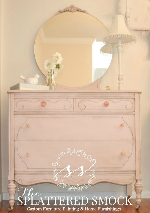 Hand Painted Distressed Dresser