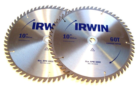 2 10 irwin circular table miter saw blades carbide 60t for 10 inch table saw blades