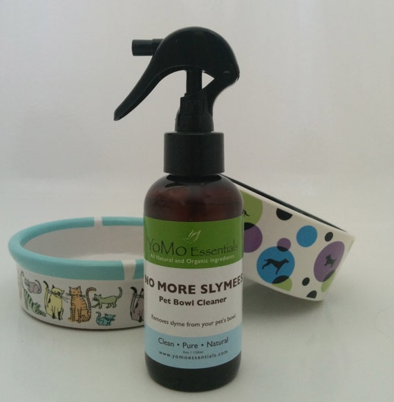 NO MORE SLYMEES Pet Bowl Cleaner Eliminates Slymee residue on pet's food and water bowls.