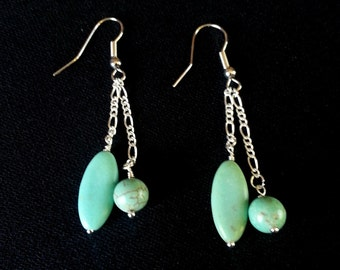 Turquoise/Green Dangle
