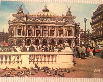 Classic Vintage Postcard of L'Opera, Paris