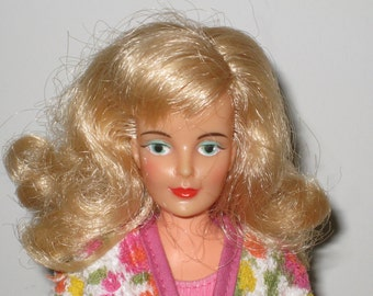 "Rare 1960s IDEAL Misty 12"" Blonde Doll with Center Eyes"