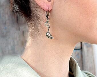 Earrings Boho Chic, Earrings Ethnic, Tribal Boho, Cool Hipster, Gypsy Earring, Chic Jewelry, Earrings Metalwork, Jewelry Earrings