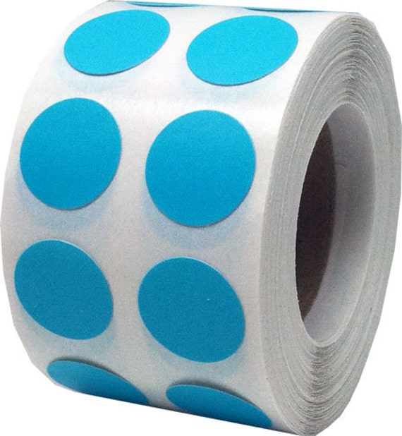 1000 teal dot stickers small 1 2 inch round adhesive for Half inch round labels