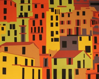 City Scape, Handcut, Papercut, Original, 6 Layers of 160gsm card stock.
