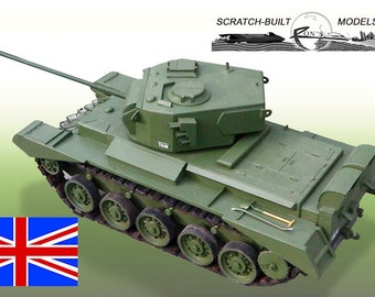 WWII British Comet Tank A34 - 1/12th Scale Plans