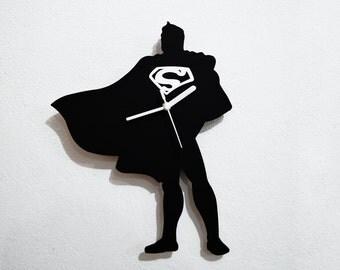 Man of Steel Superman Silhouette - Wall Clock