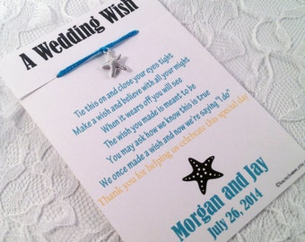 Unique Wedding Favors For Destination Weddings : Wedding Wish BraceletsUnique Wedding FavorsBeach Wedding Favor ...