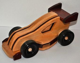 Hardwood Formula 1 Race Car