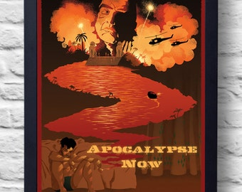 Apocalypse Now- Movie Poster Print, film illustration, art, painting, gift