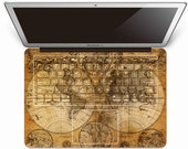 Maps keyboard decal macbook pro keyboard cover keyboard stickers keyboard skin macbook air decal apple mac decals