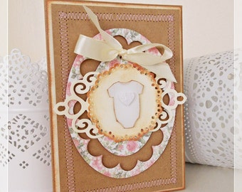 Handmade New Baby Born Card, Congratulation Card, New Baby Congratulation Card