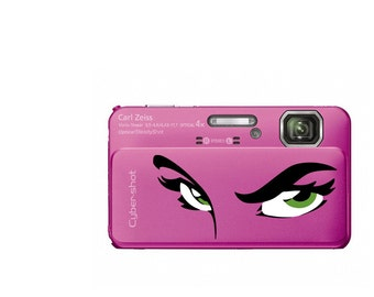 Eyes Phone decal sticker High quality Vinyl iphone sticker or any mobile phone, available sizes