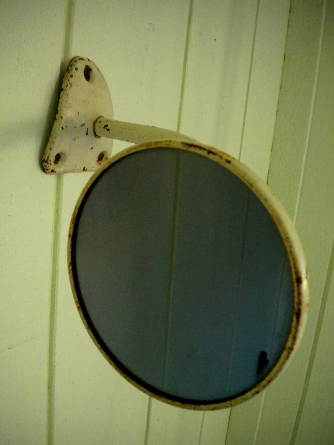 Vintage Truck Side Mirror Repurposed As Wall Mirror Or Display