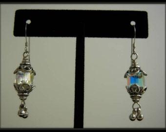 Swarovski crystal vintage style earrings