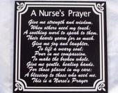 Nurse's Prayer - Nurse Tribute - Nurse Retirement - RN Prayer - LPN Prayer - CNA Prayer - Nurse Memorial - Prayer for Nurses -Gift For Nurse