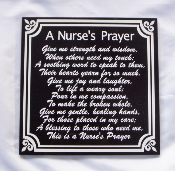 Nurse's Prayer - Nurse Tribute - Nurse Retirement - RN Prayer - LPN Prayer - CNA Prayer - Nurse Memorial - Prayer for Nurses -Gift For Nurse