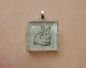 Whimsical Bunny Rabbit Charm Pendant