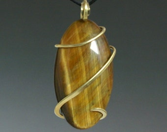 Tiger eye Cold Forged Pendant