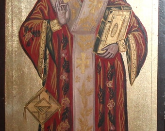 Orthodox hand painted icon SAINT NICHOLAS