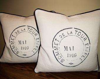 Postal De La Tour Accent Pillow