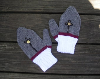 USMA, West Point Fristie Cadet theme handknit mittens