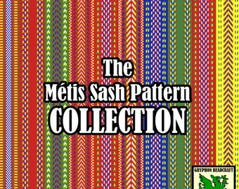 Loom Beading Patterns - The Métis Sash Pattern Collection