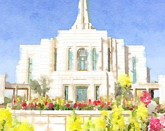 Gilbert Temple Watercolor