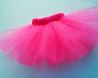 Fucshia Hot Pink Dog Tutu Made with Soft Tulle - Magenta Pet Tutu Costume - Hot Pink Halloween Tutu for Dogs