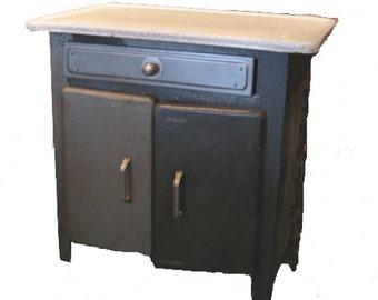Vintage French Metal Cabinet