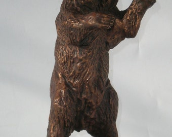 Bronze sculpture of Grizzly Bear 6.30'' - 11''