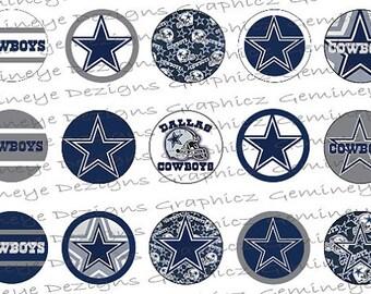 "Dallas Cowboys Football 1"" round bottle cap images"