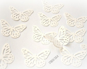 40 Large White Monarch Butterfly Cut outs-Set of 40 pcs