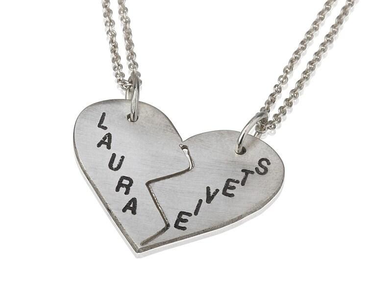 Split Heart Necklace For Couples Www Pixshark Com
