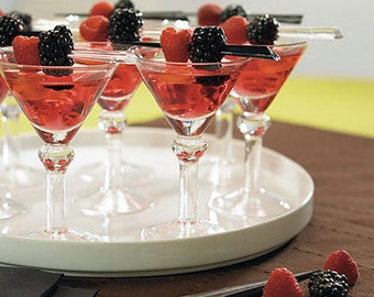 6 Mini Martini Glasses Add some Hollywood Glam for Favors and Parties