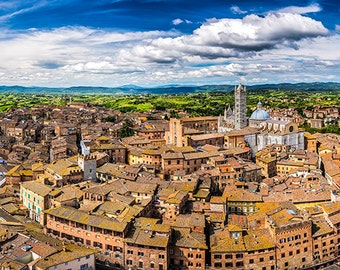 Italy - Siena - Aerial view - SKU 0113
