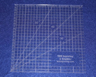 """Square Ruler 1/8""""  Clear Acrylic   6"""""""