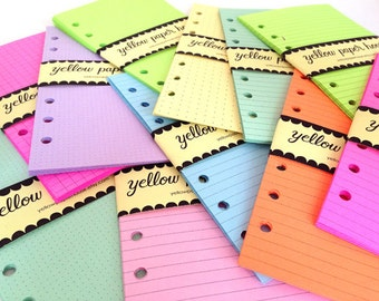 A5 Size Planner Notepaper 40 Sheets  ~ Your choice of 22 colors and 10 patterns