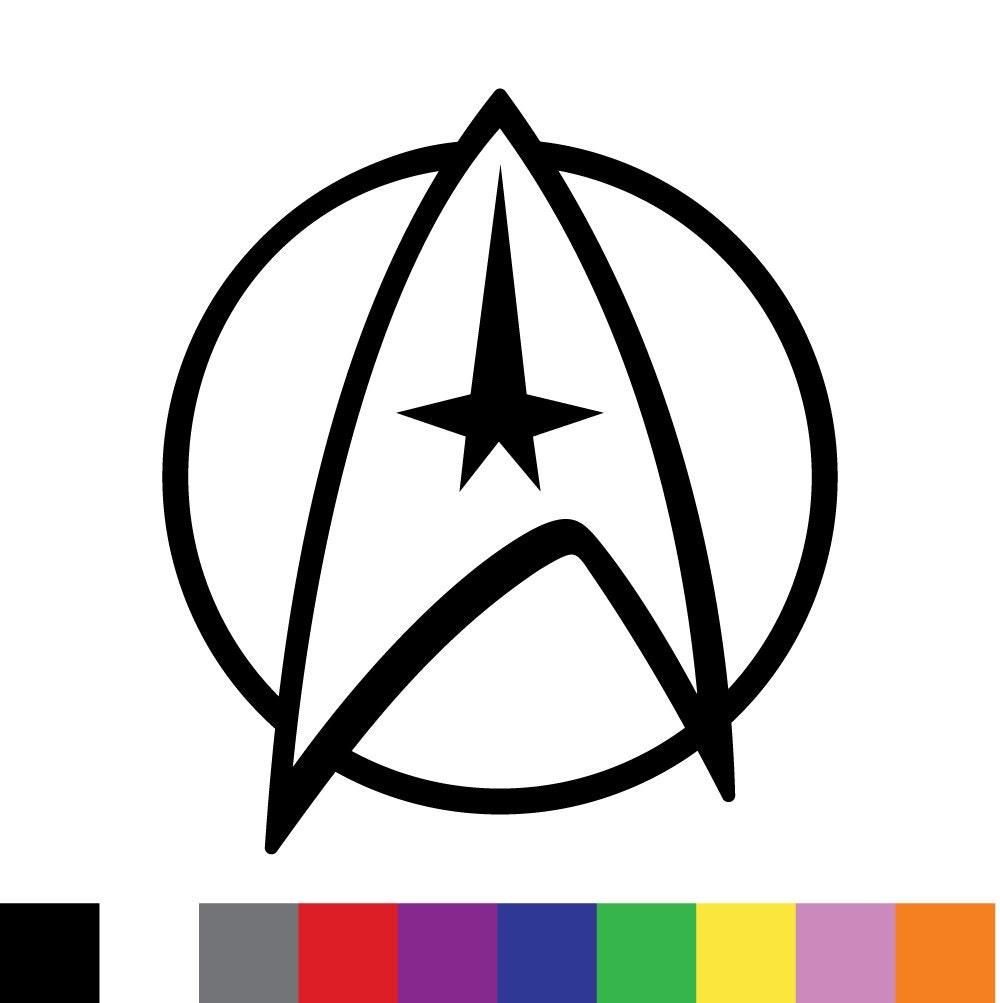 Star Trek Logo Custom Vinyl Decal Sticker Car By Decalexchange