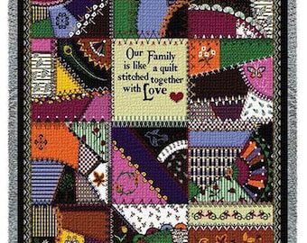 Family Tree Quilt - Stitched With Love Personalized Throw