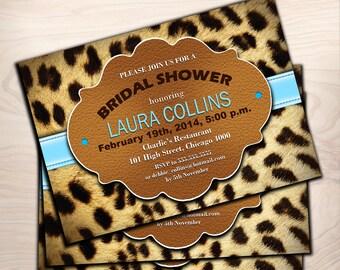 Bridal Shower Invitation / Leopard Animal Print / Digital Printable Invitation / Customized