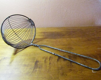 Vintage Wire Ladle-Shaped Spoon
