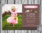 Zoo Birthday Party Invite, Animal Invite, Custom Photo Invitation, Multiple Sizes, Printable, Digital File